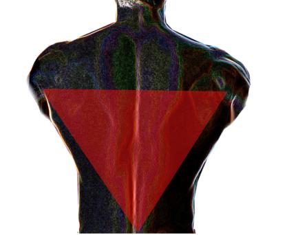 逆三角形体型イメージ