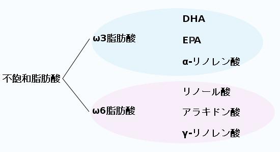 ω3脂肪酸とω6脂肪酸