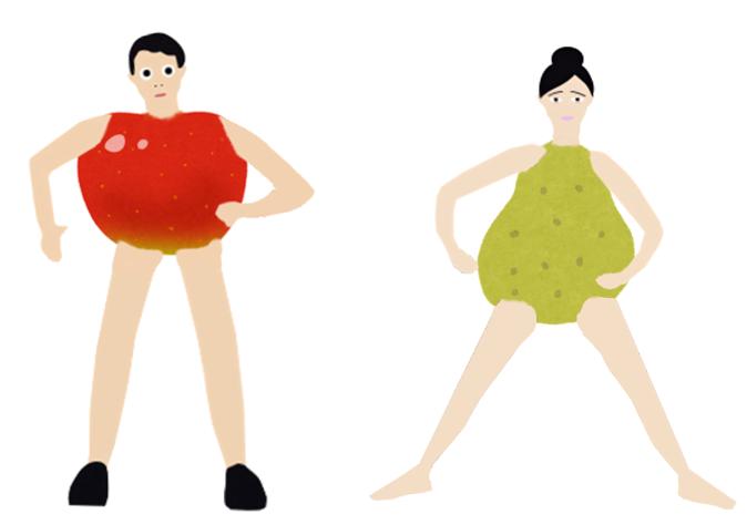 洋なし体型とリンゴ体型