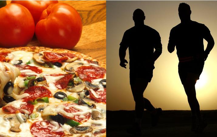 走る、食べる